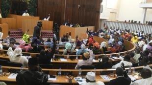 Session de l'Assemblée nationale sénégalaise à Dakar, le 4 mai.