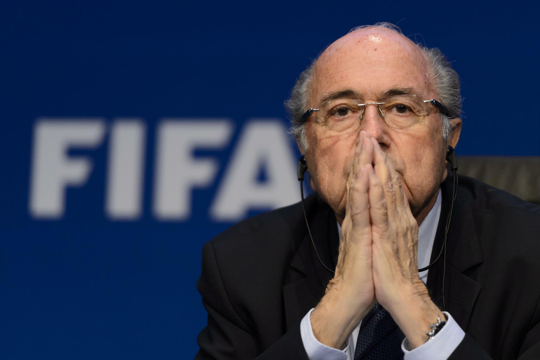Sepp Blatter, alors président de la Fifa, lors d'une conférence de presse à Zurich le 30 mai 2015.