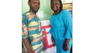 Président du Club Abomey Calavi Stanislas Langanfin et Christelle Houndonougbo.