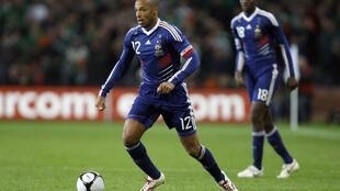 Thierry Henry lors du match de barrage aller pour le Mondial 2010 contre l'Irlande en 2009, à Dublin.