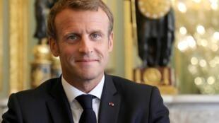 Emmanuel Macron au palais de l'Elysée, à Paris, le 18 septembre 2019.