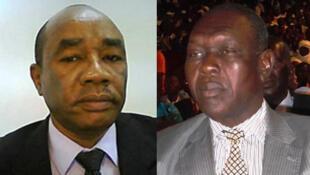 Mahamat Ahmat Alhabo (G)  et  Laoukein Kourayo  Médard (D), candidats à la présidentielle tchadienne.