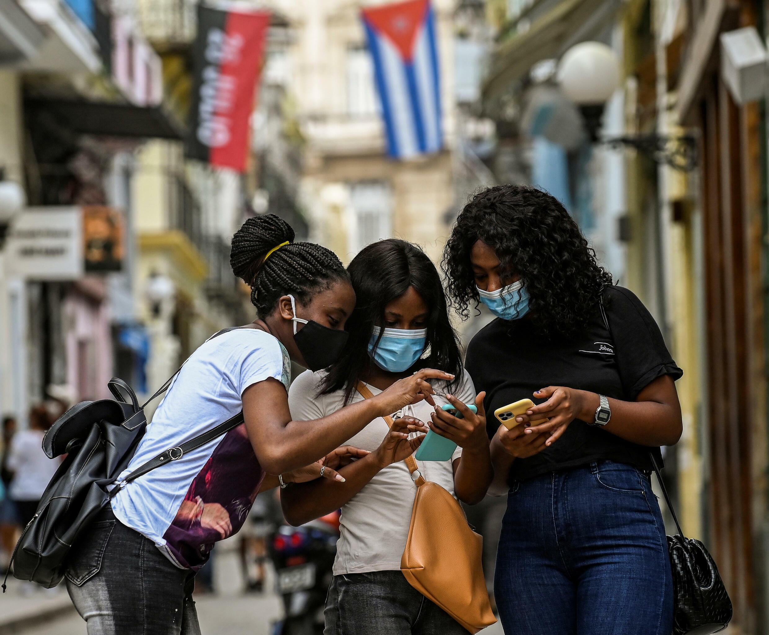 Cuban authorities restored internet access on Wednesday following three days of interruptions but access to social media and messaging apps such as Facebook, WhatsApp and Twitter remained blocked