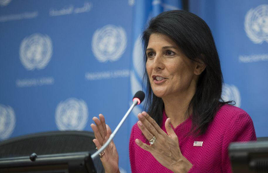 Nikki Haley  سفیر ایالات متحده آمریکا در سازمان ملل متحد