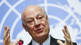 Jakadan Majalisar dinkin duniya na musamman a Syria Staffan de Mistura