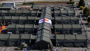 Tents at the Emile Muller military field hospital in northern France during a lockdown aimed at curbing the spread of Covid-19.