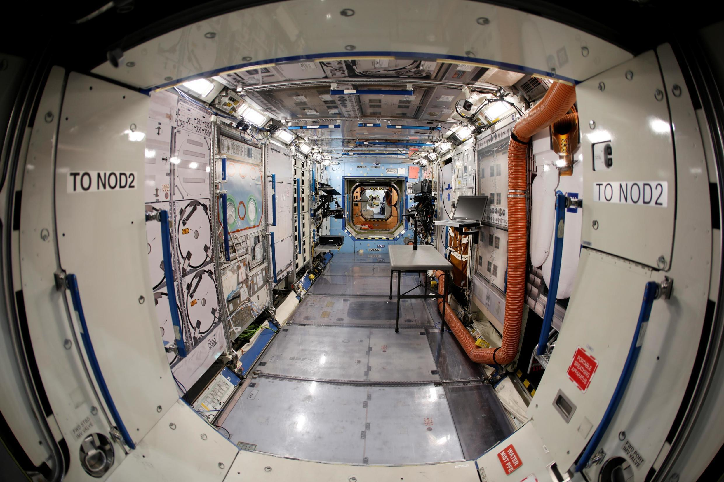 A view inside a replica science lab of the International Space Station at Johnson Space Center in Houston, Texas, U.S., May 22, 2019
