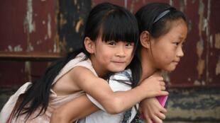 Petites filles en Chine.