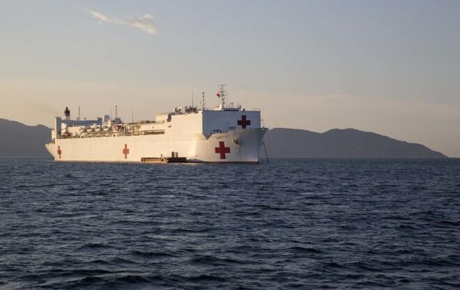 Hải quân Mỹ cử hai quân hạm tối tân : tàu bệnh viện Mercy và tàu vận tải đa năng Millinocket đến Đà Nẳng @usni