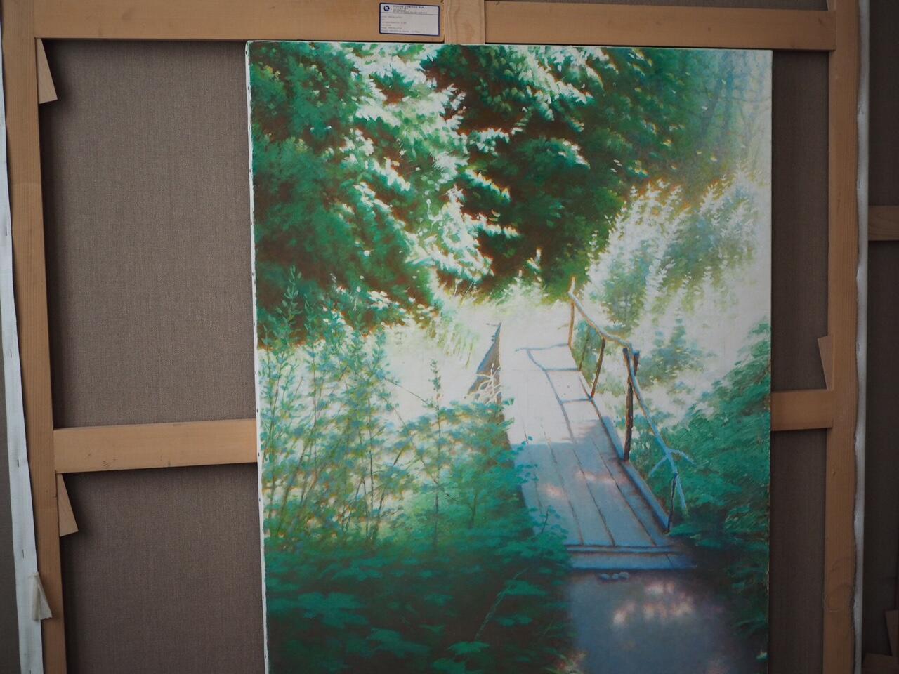 Картина Эрика Булатова «Маленький мост»