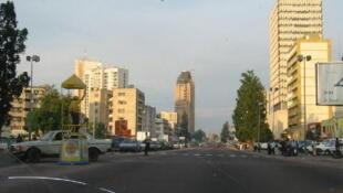 Centre ville de Kinshasa, RDC.