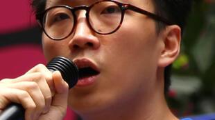 Ứng cử viên Nghị viện Hồng Kông Edward Leung/Lương Thiên Kỳ, bị loại vì quan điểm đòi độc lập.