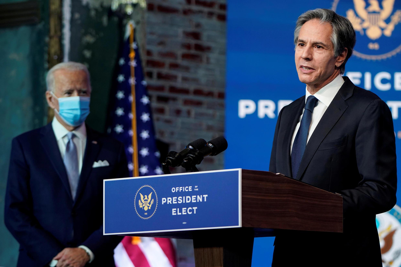 美國總統拜登與國務卿布林肯資料圖片