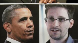 លោកប្រធានាធិបតីអាមេរិក Obama និងលោក Edward Snowden អតីតបុគ្គលិកបំរើការអោយទីភ្នាក់ងារសម្ងាត់អាមេរិក (CIA)