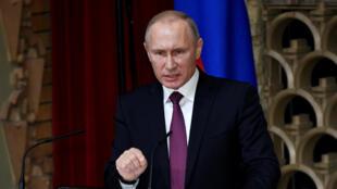 El presidente ruso, Vladimir Putin, en rueda de prensa en Tokio, 16 de diciembre de 2016.