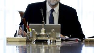 El jefe del gobierno español, Mariano Rajoy, el 21 de octubre de 2017.