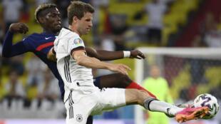 Football - Euro - France Allemagne_Pogba - Muller - AP21166701288472