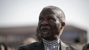 Rais wa zamani wa Afrika Kusini Thabo Mbeki akihudhuria maadhimisho ya miaka 100 ya Nelson Mandela katika Jumbala Constitution Hill huko Johannesburg, Julai 18, 2018.
