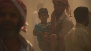 As crianças são grandes vítimas do conflito na Síria.