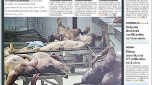 Polémica portada de El Nacional de Caracas el viernes 13 de agosto de 2010