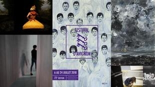 A 72° edição do Festival de Avignon acontece do 6 ao 24 de julho. Fotomontagem com peças que estaram em cartaz nesta edição.