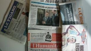 Primeiras páginas dos jornais franceses de 03 de julho de 2017
