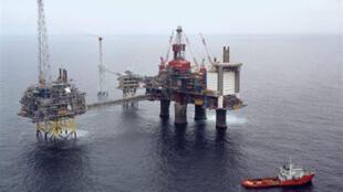 Israël devrait installer des plateformes de ce type pour l'exploitation du gaz découvert en mer. Ici une plateforme d'extraction de gaz en mer du Nord.