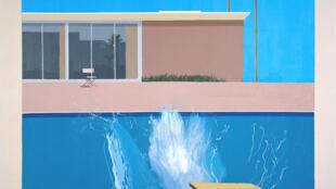 Tela do pintor David Kockney que empresta seu nome à exposição da Tate Modern, em Londres.