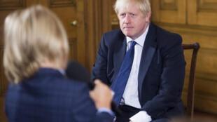 Le Premier ministre britannique Boris Johnson dans les locaux du n°10 Downing Street à Londres, le 30 août 2019.