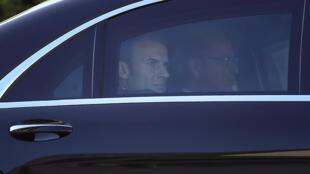 Le président Emmanuel Macron à Istanbul, à l'occasion du sommet quadripartite sur la Syrie, le 27 octobre.