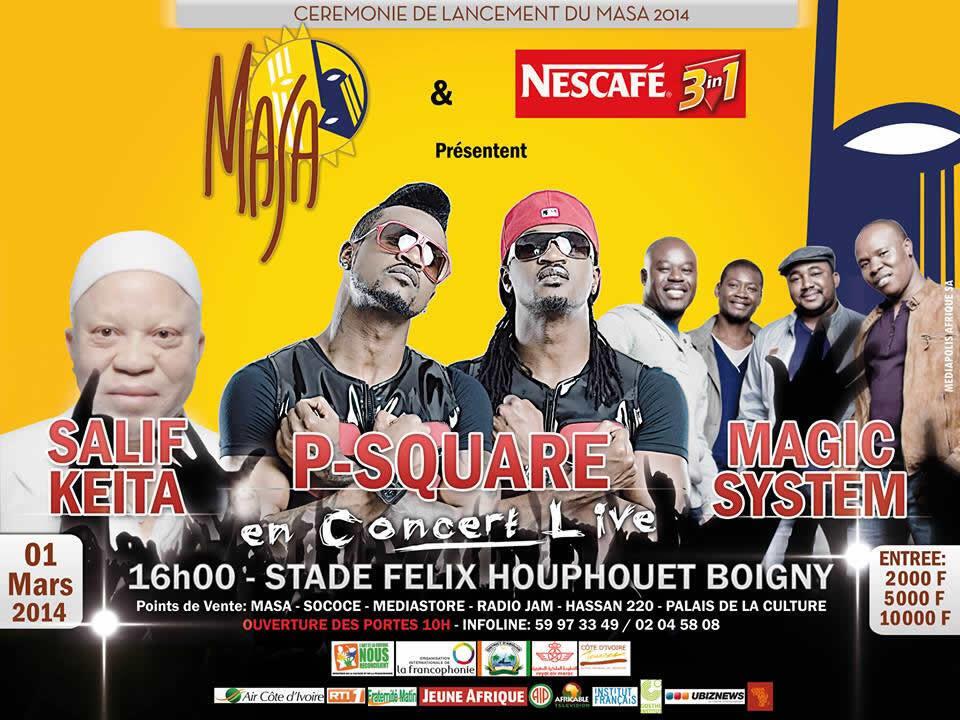 Salif Keïta, P-Square, Magic System… sont les invités du concert d'ouverture du MASA 2014.