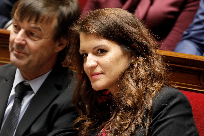 Quốc vụ khanh Pháp, đặc trách bình đẳng nam-nữ, bà Marlène Schiappa (P), trong một phiên họp Quốc Hội, Paris, ngày 13/02/2018.