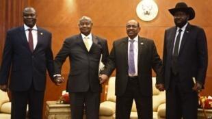 Shugaban Sudan ta Kudu Salva Kiir da abokin hamayyarsa na siyasa Rieck Machar