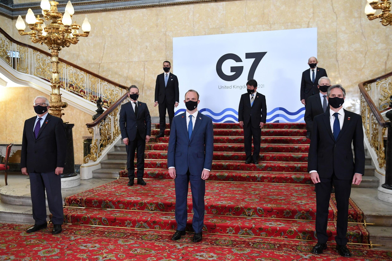 七國集團外長與歐盟外交與安全政策高級代表博雷利資料圖片