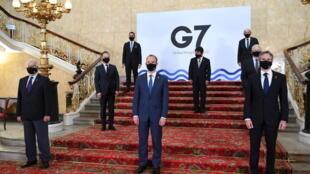 七国集团外长与欧盟外交与安全政策高级代表博雷利资料图片