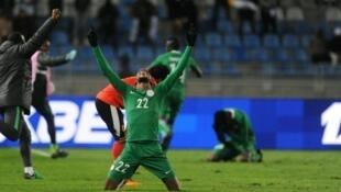 Yan wasan Najeriya bayan nasarar doke Sudan a Morocco a gasar CHAN