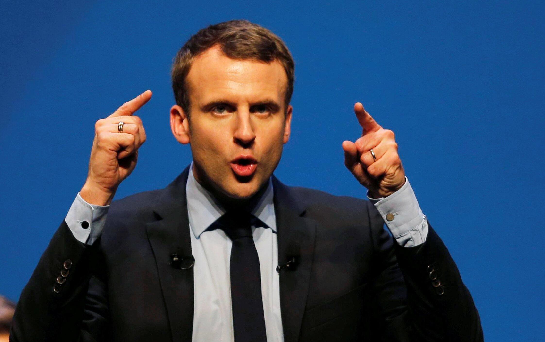 Emmanuel Macron en meeting à Talence, dans le sud-ouest de la France, le 9 mars 2017.