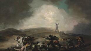 Escena de la guerra española, luego de 1808.