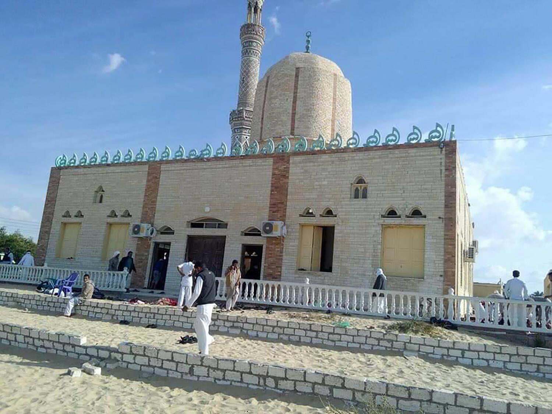 Đền thờ Hồi Giáo al-Rawda ở Bir al-Abed, bị tấn công ngày 24/11/2017.