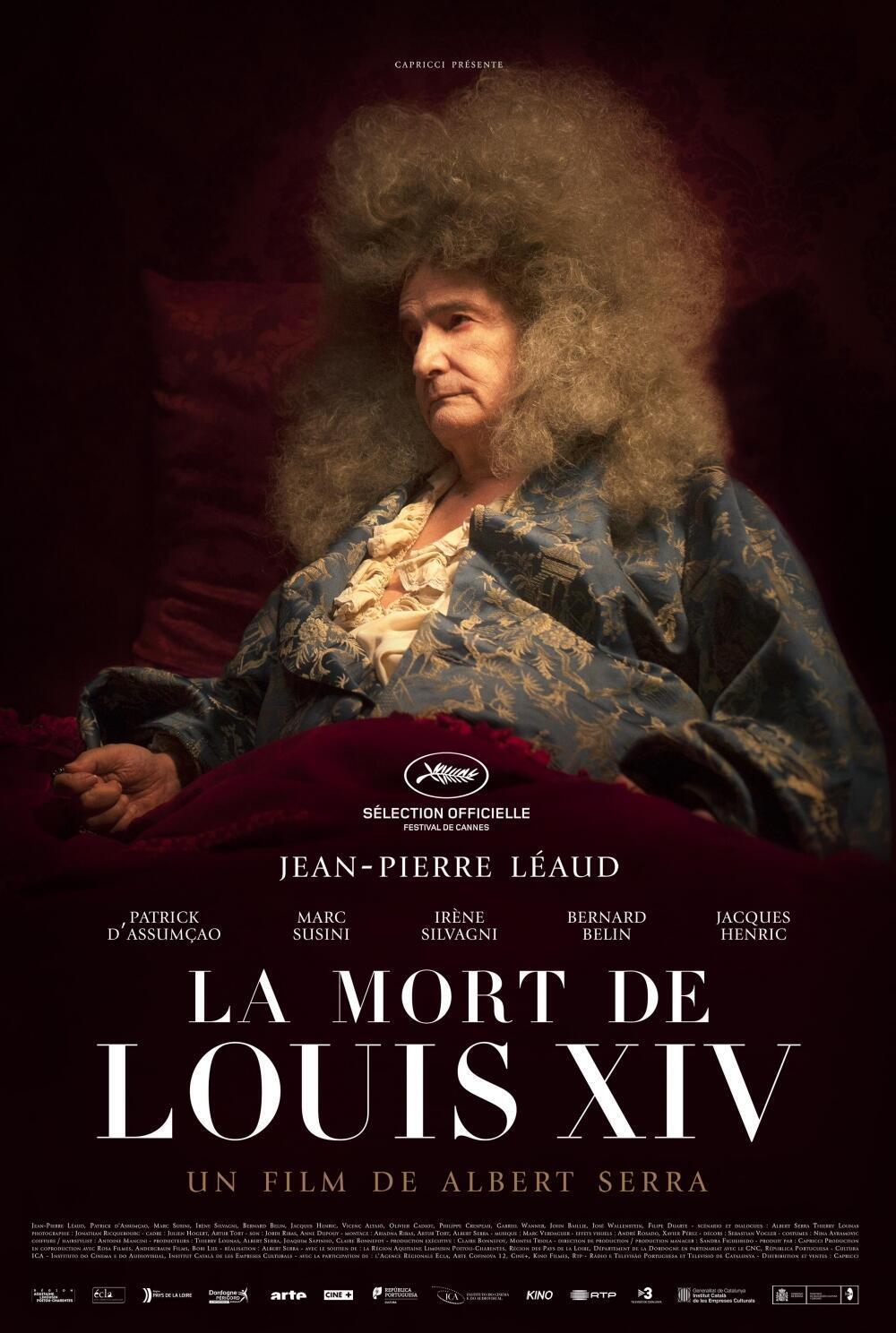 Affiche de <i>La mort de Louis XIV, </i>du cinéaste catalan Albert Serra.