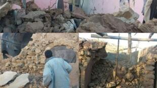 تصاویری از خرابی های ناشی از زمین لرزه روز ۱۰ آذر  در کرمان.