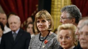 Anne Lauvergeon, ex-patronne d'Areva et désormais conseillère de François Hollande sur les questions de technologies, lors d'une cérémonie de remise de la Légion d'honneur, le 18 mars 2014.