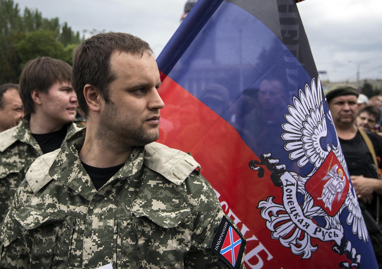 Павел Губарев, один из лидеров самопровозглашенной ДНР в Донецке 21/06/2014