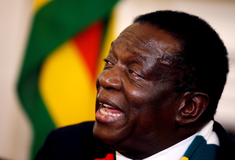 Shugaban kasar Zimbabwe, Emmerson Mnangagwa.