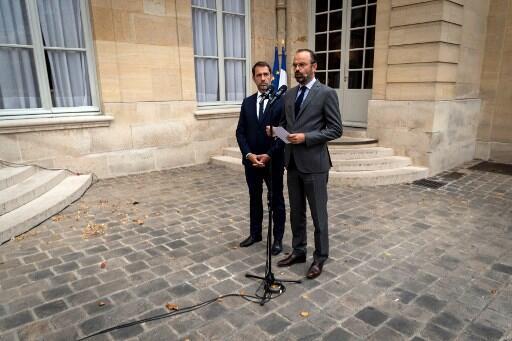 Le chef du gouvernement Edouard Philippe et le ministre de l'Intérieur Christophe Castaner, le 30 juillet 2019 à Paris.