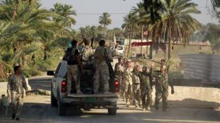 Soldados iraquíes fotografiados en octubre de 2014.