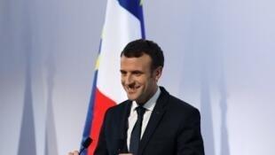 Emmanuel Macron em Bastia, Córsega, a 7 de Fevereiro de 2018.