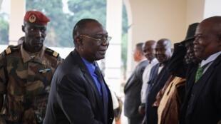 L'ancien président centrafricain Michel Djotodia à Bangui, le 10 janvier 2020.