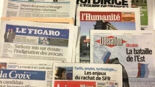 Primeiras páginas dos diários franceses de 10/03/2014