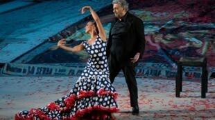 """Plácido Domingo fue el alma de la """"Noche Española"""" en Orange."""